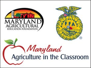 Logos: MAEF, FFA, Maryland Agriculture in the Classroom