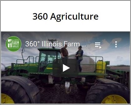 Image of screenshot of youtube video for 360 degree ag videos